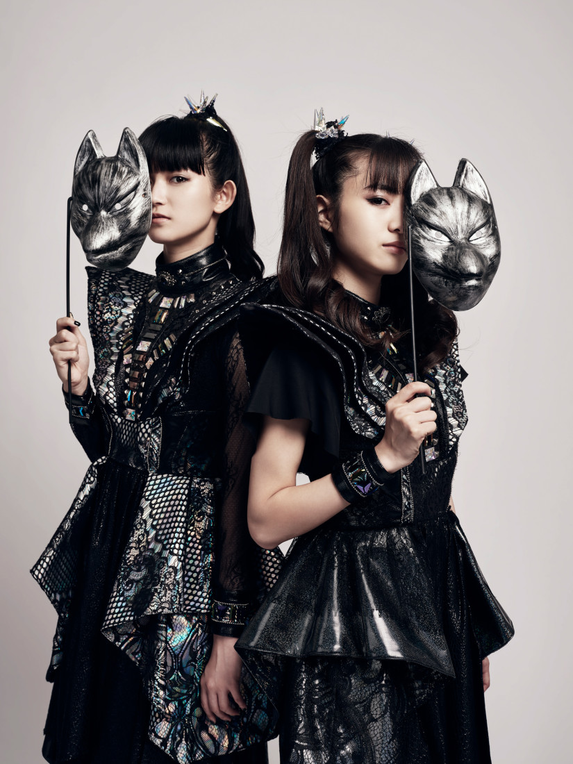 Babymetal hide their faces behind their fox masks