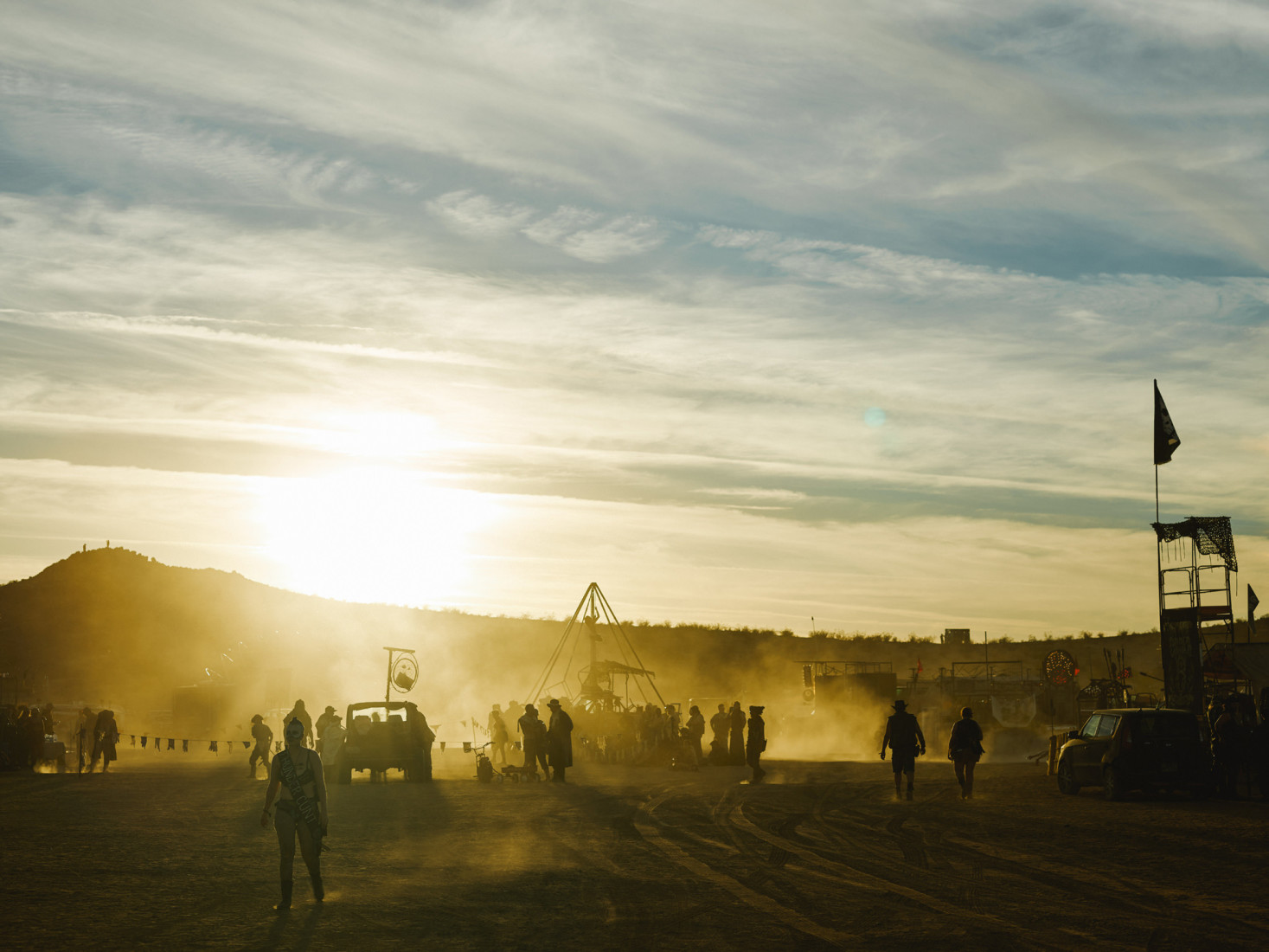 Sunset at Wasteland Weekend festival