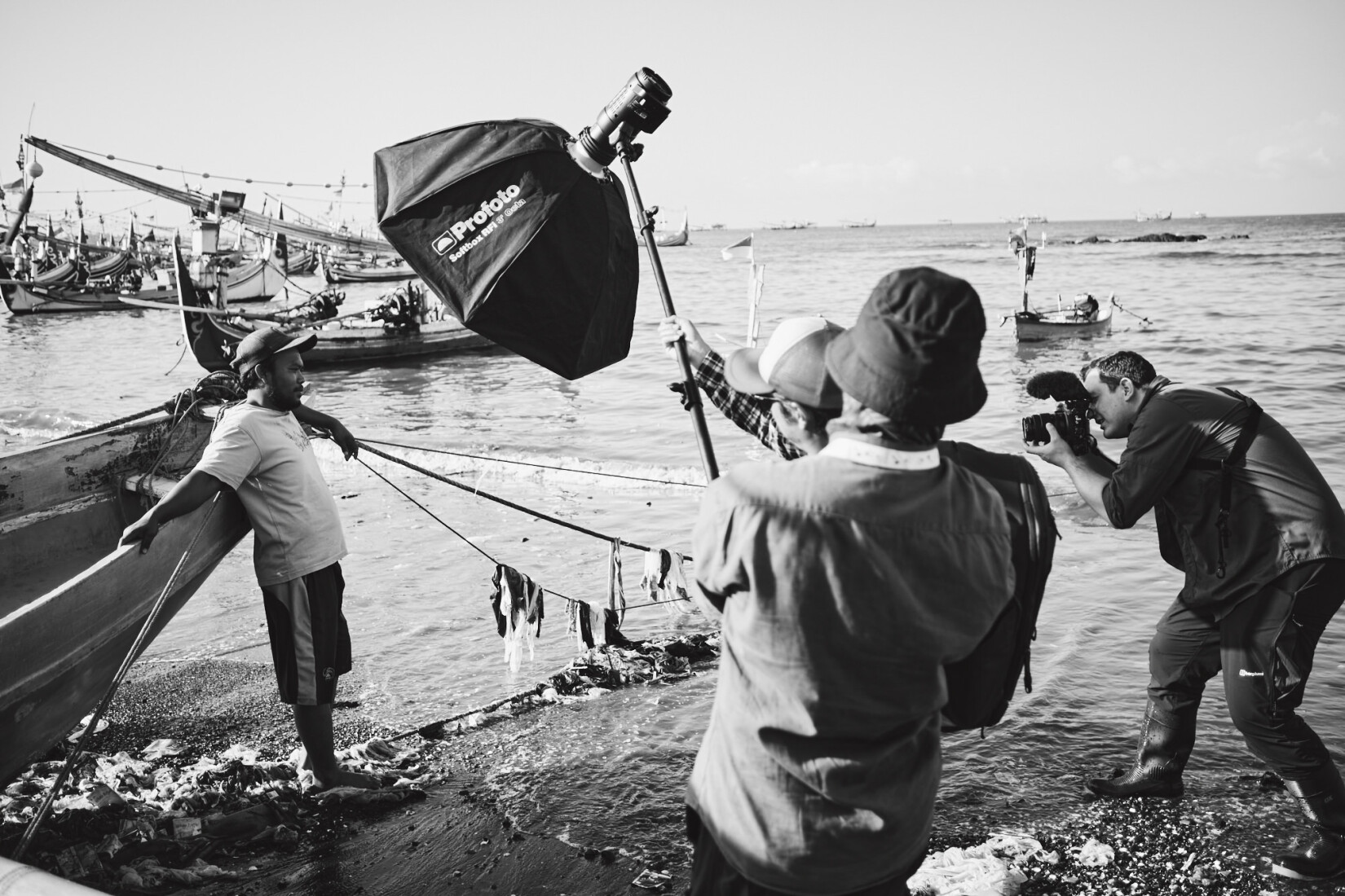 BTS of Photographer Tom Barnes shooting in Indonesia